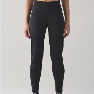 Lululemon Jogger Ankle Zip Fresh Tracks Black 10